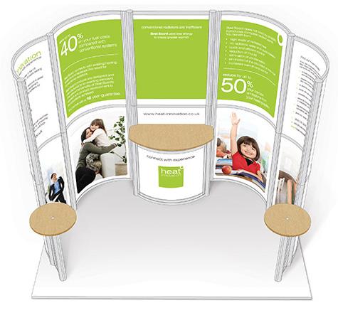 Exhibition stand designed by Lunaria Ltd.